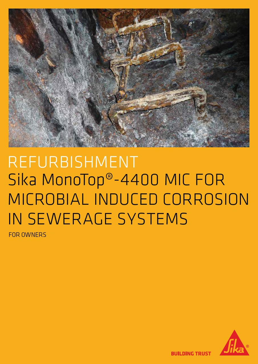 Concrete repair solutions for sewerage systems