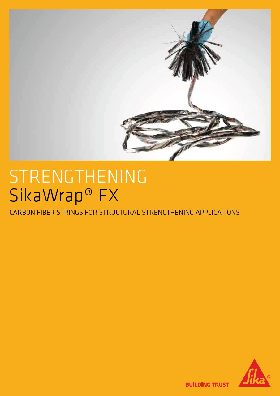 Structural strengthening with SikaWrap FX systems