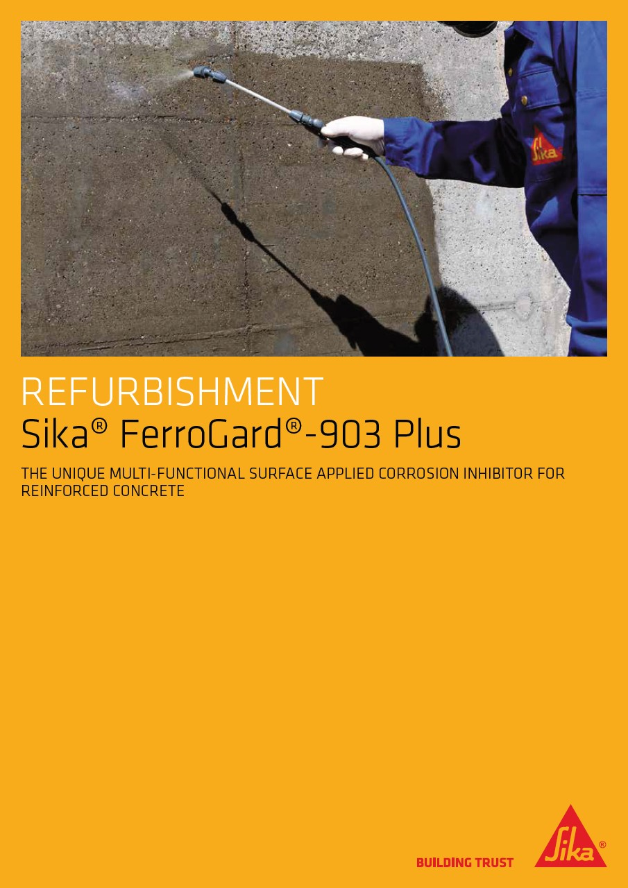 Sika FerroGard 903 Plus corrosion inhibitor for reinforced concrete
